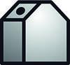 Altglascontainer weiß